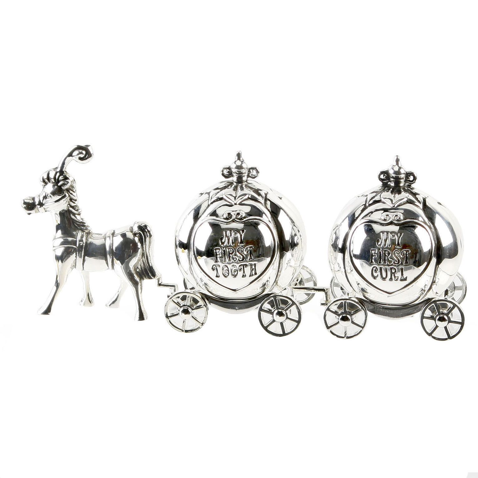 Silver Horse Cinderella Carriage First Tooth Curl